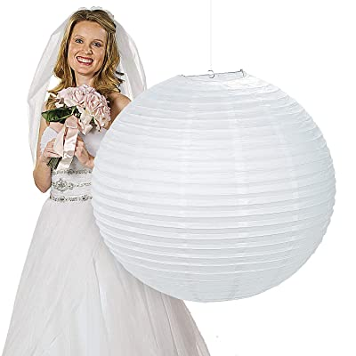 Jumbo White Hanging Lantern (30 Inches in diameter) Wedding and Party Decor: Toys & Games [5Bkhe0304037]