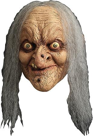 Máscara de bruja anciana - Única