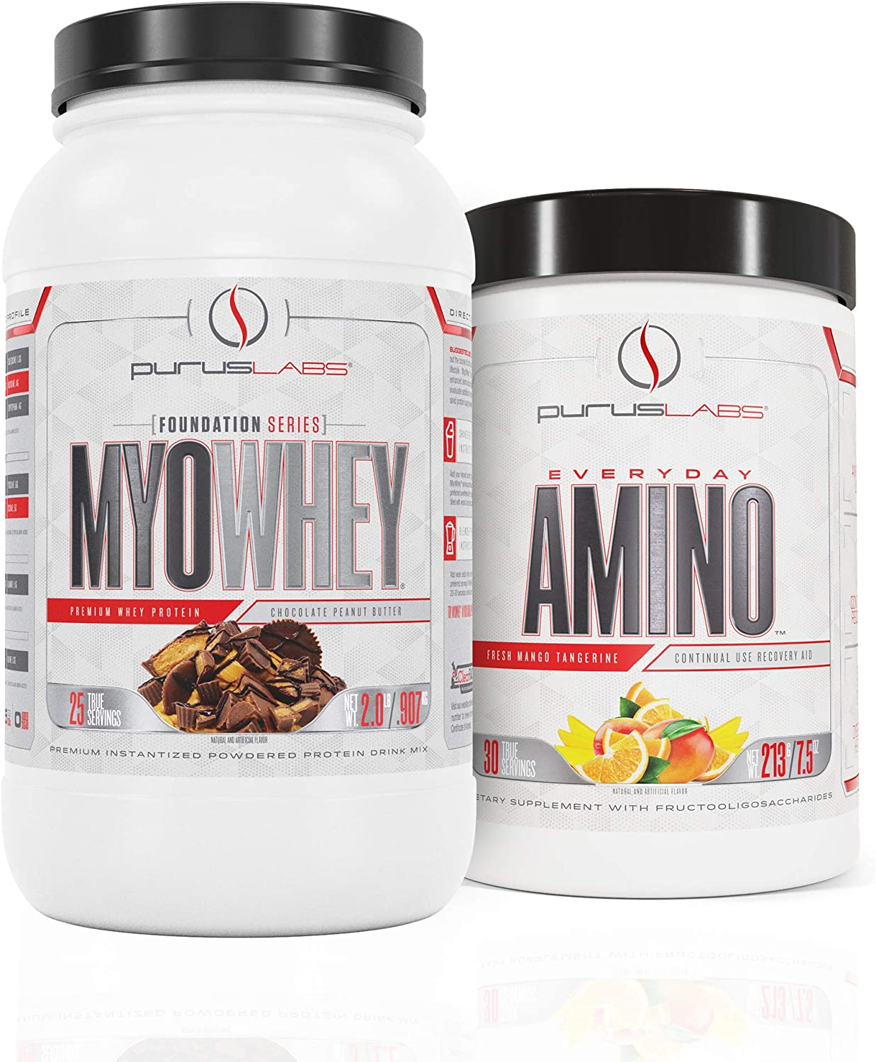 Purus Labs MyoWhey 2lb Chocolate Cookie Crunch & Everyday Amino Strawberry Lemonade Bundle