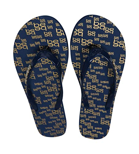162108f76afe9c Image Unavailable. Image not available for. Color  bebe Women s Flip Flops  Thong Blue w Bling ...