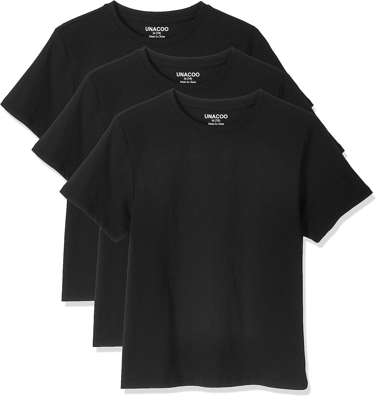Unisex Boys Girls 5 Pack White School Uniform Shirts Short Sleeves Ages 3-12