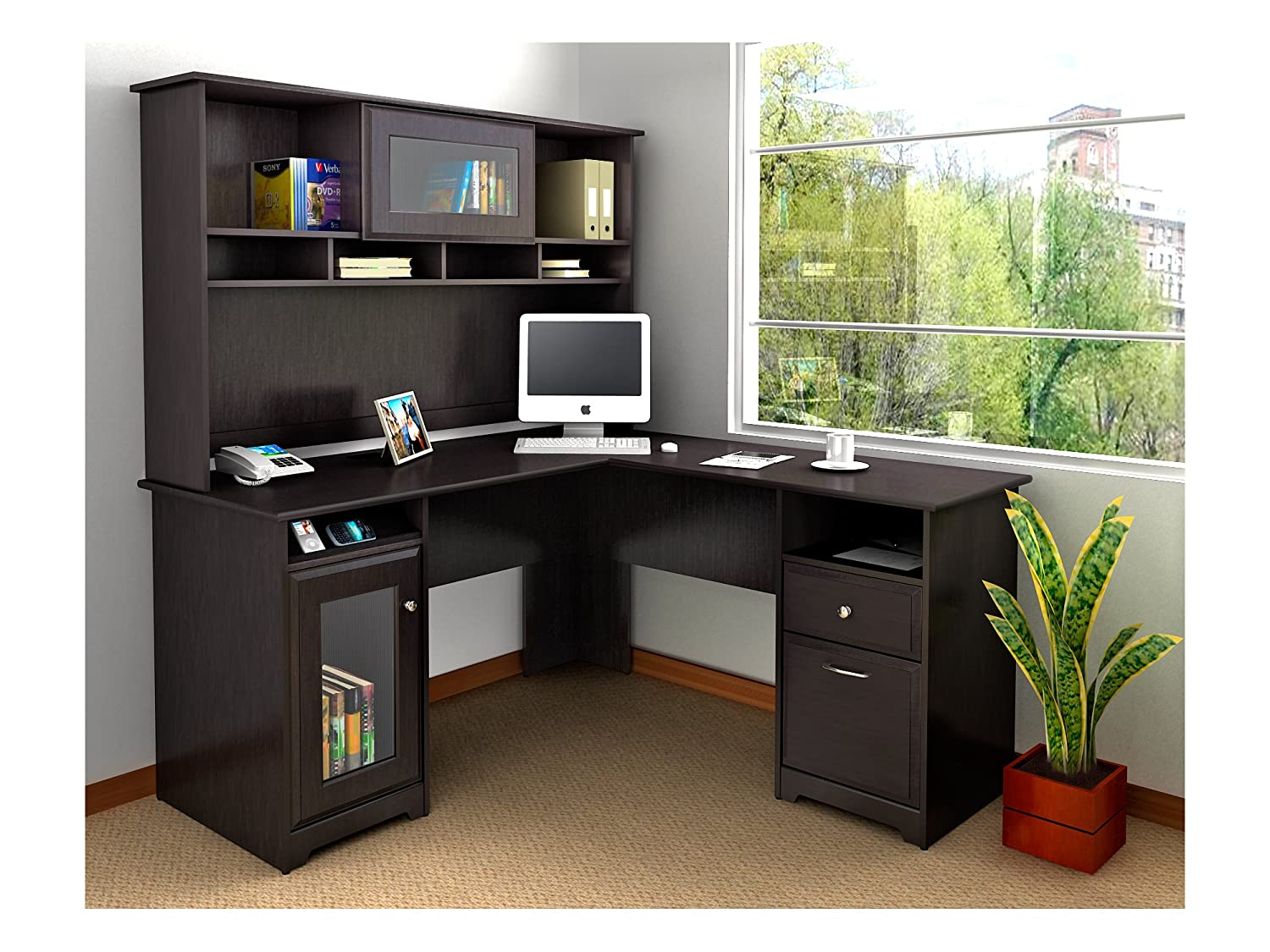 Cabot L Shaped Desk With Hutch: Top 20 Best Home Office Desks Reviews 2019-2020 On