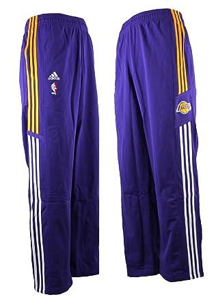 Adidas LA Lakers NBA Baloncesto de poliéster Pantalones de chándal Morado P55003, Hombre, Morado
