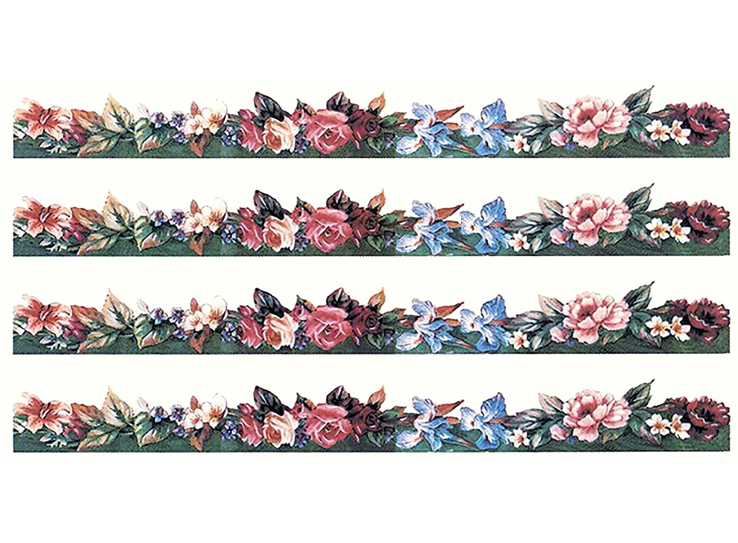 Victorian Flower Border 3018 E Waterslide Ceramic Decals By The Sheet (12 X 1-1/4 5 pcs) Captive Decals
