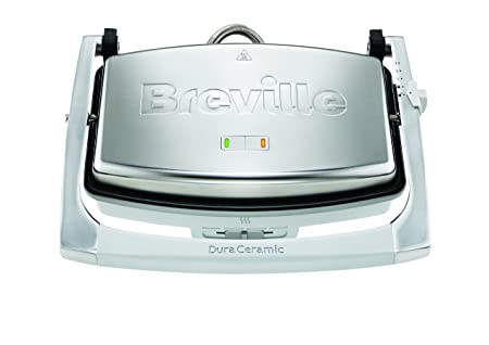 Breville VST071 Dura Ceramic Sandwich Press,Light Grey