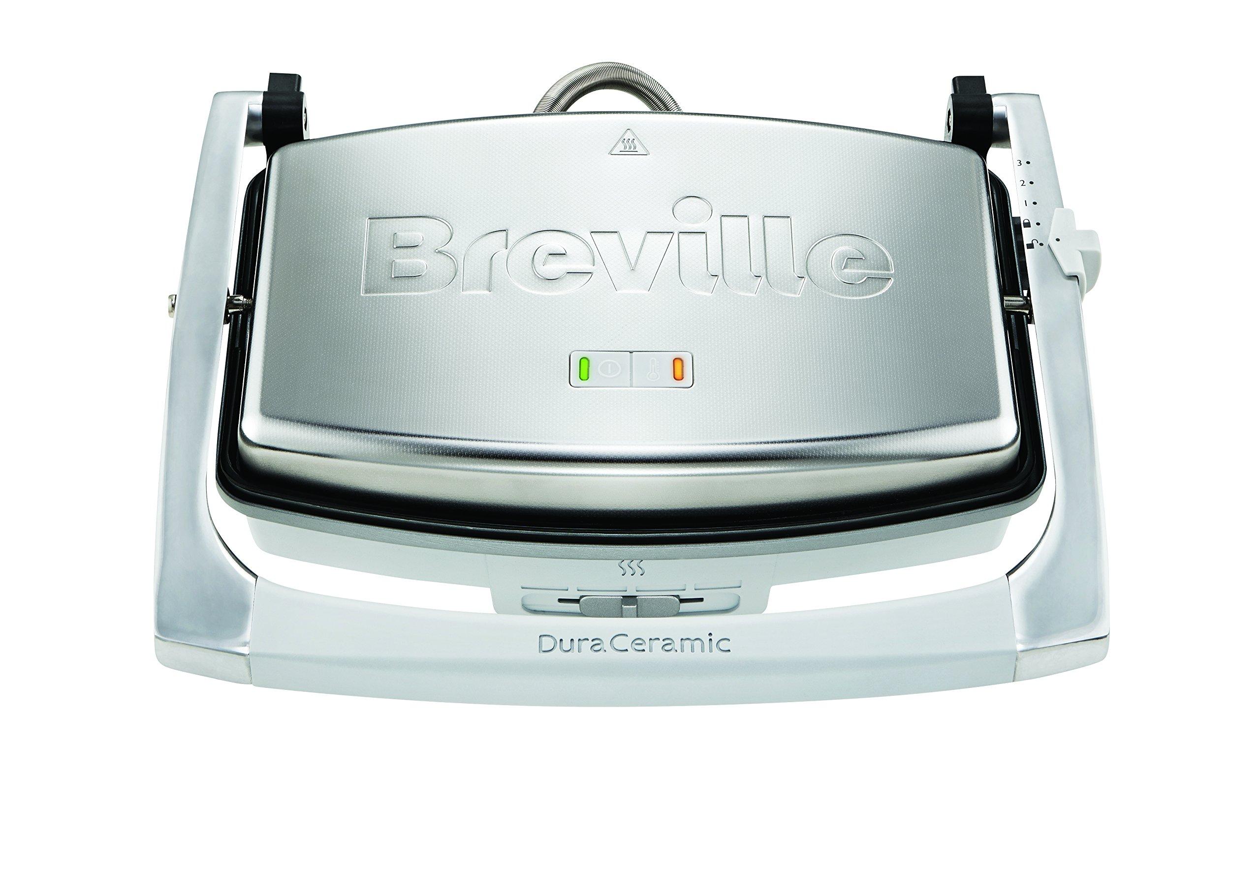 Breville VST071 Dura Ceramic Sandwich Press,Light Grey