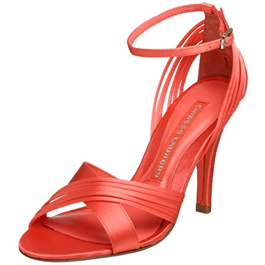 Chinese Laundry Womens Friday Fabric Open Toe Ankle Strap Coral Size 5.5