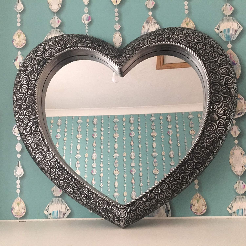 Homely 67 X 58cm Heart Shape Designer Wall Mirror Beautiful Decoration Art Piece Gift Amazon Co Uk Kitchen Home