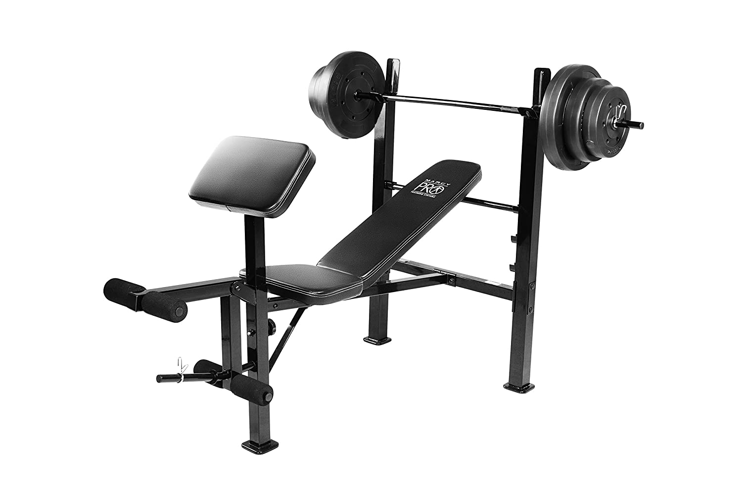 Amazoncom Marcy PM20115 Bench with Weight Set 100 lb Sports