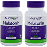 Natrol Melatonin Time Release 5mg Tablets 100 ea ( Packs of 2)