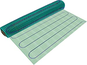 WarmlyYours TempZone Electric Floor Heating Mat, 24 sq. ft. (3' x 8')