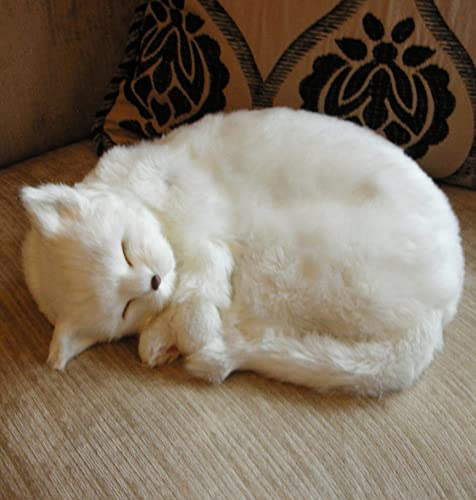 Smokey Realistic Sleeping Life Size Cat Grey Tabby