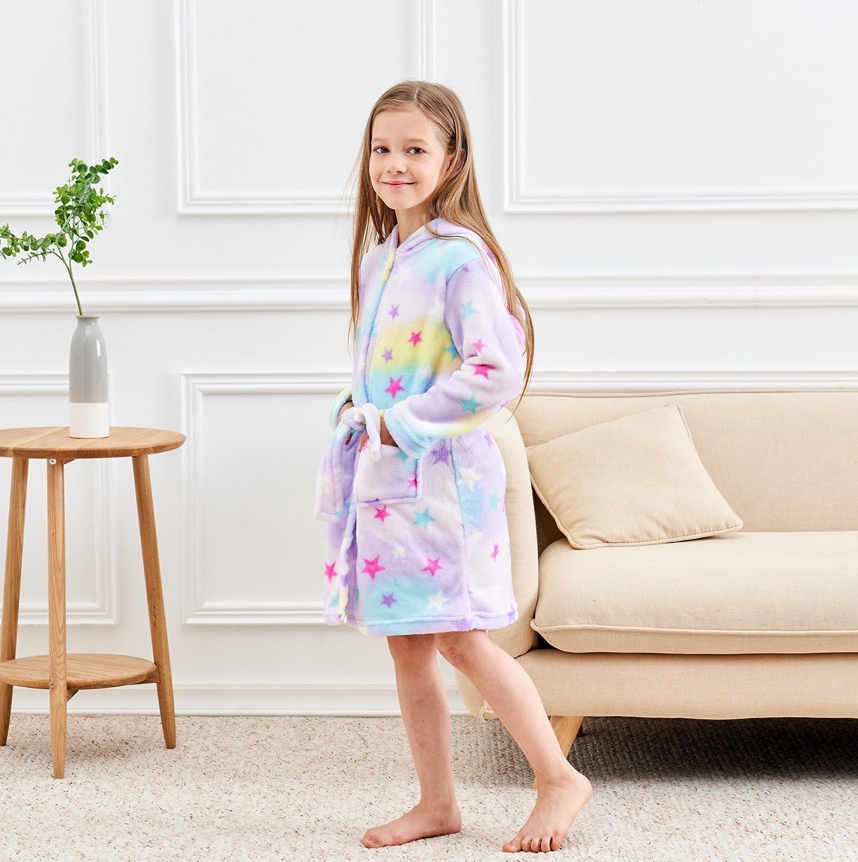Soft Unicorn Hooded Bathrobe Sleepwear - Unicorn Gifts for Girls larger  image e34975277