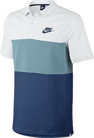 Nike M Nsw Pq Matchup Clrblk Polo de Manga Corta de Tenis, Hombre, Blanco