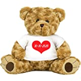 """PaperGala 16"""" Bear Choose Your Color Teddy Bear Personalized Name for Anniversary Birthday Custom Gift for Girlfriend Boyfrie"""