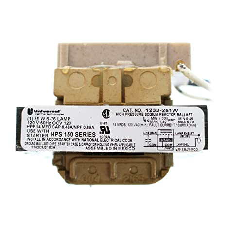 Universal 1233 251w hps 35w 120v integrated ignitor ballast universal 1233 251w hps 35w 120v integrated ignitor ballast sciox Image collections