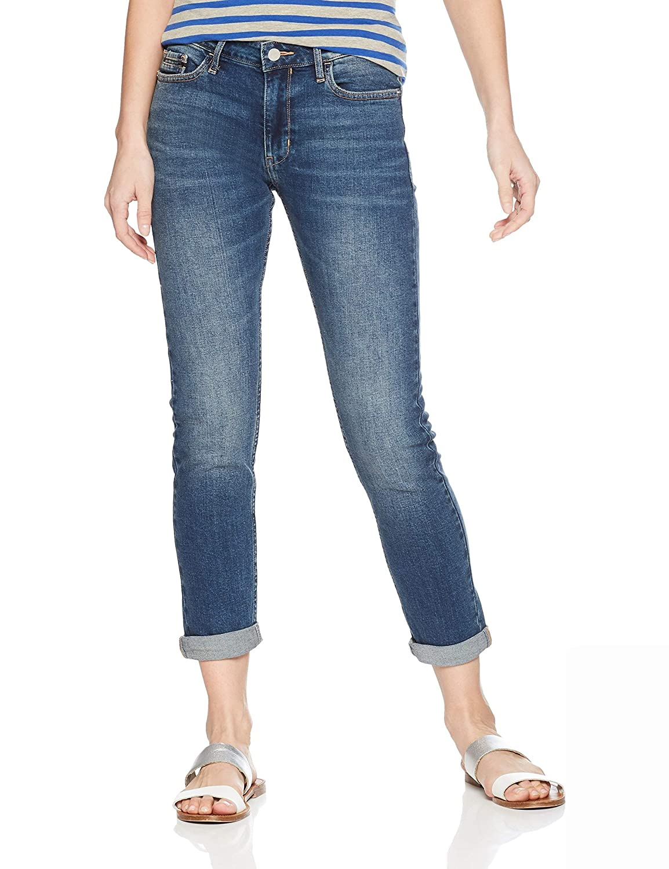 Calvin Klein Jeans Womens Slim Boyfriend Fit Denim Jean, Keanu Blue, 31