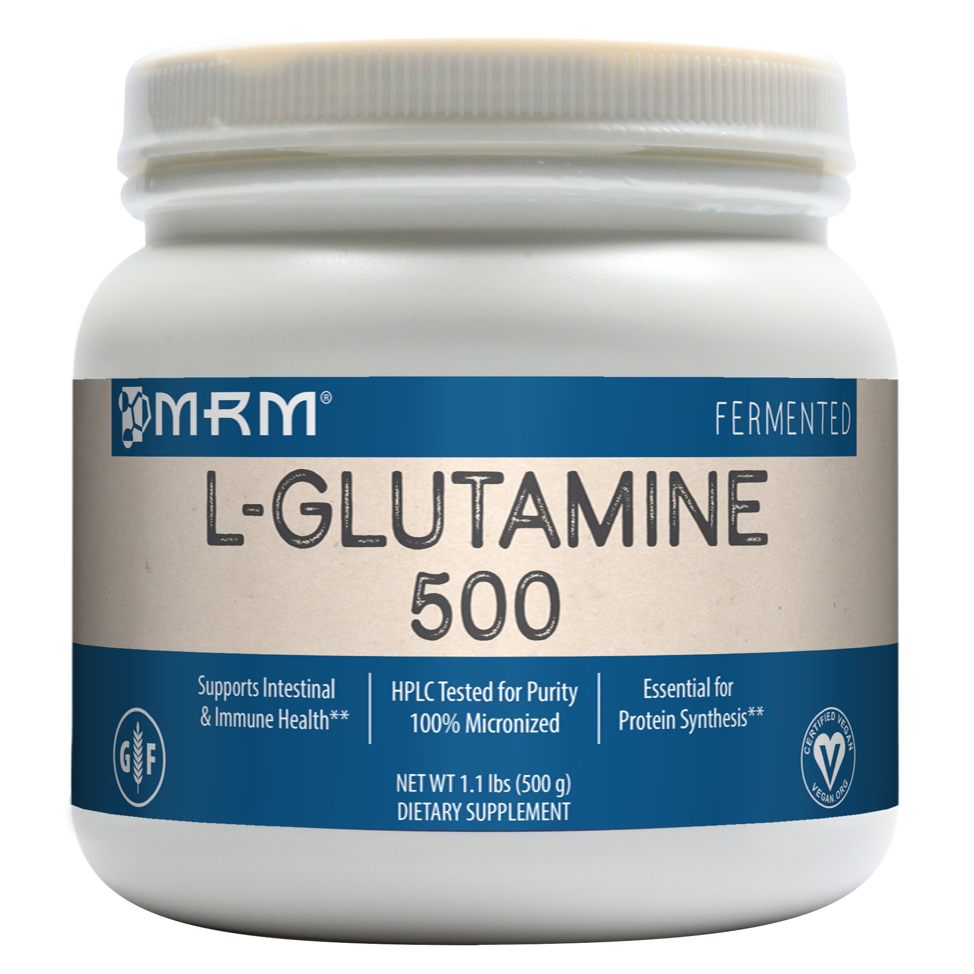 MRM L-Glutamine 500, 17.6-Ounce Plastic Jar by MRM