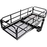 """Merax Foldable Hitch Cargo Carrier Mounted Basket Luggage Rack with 2"""" Receiver"""