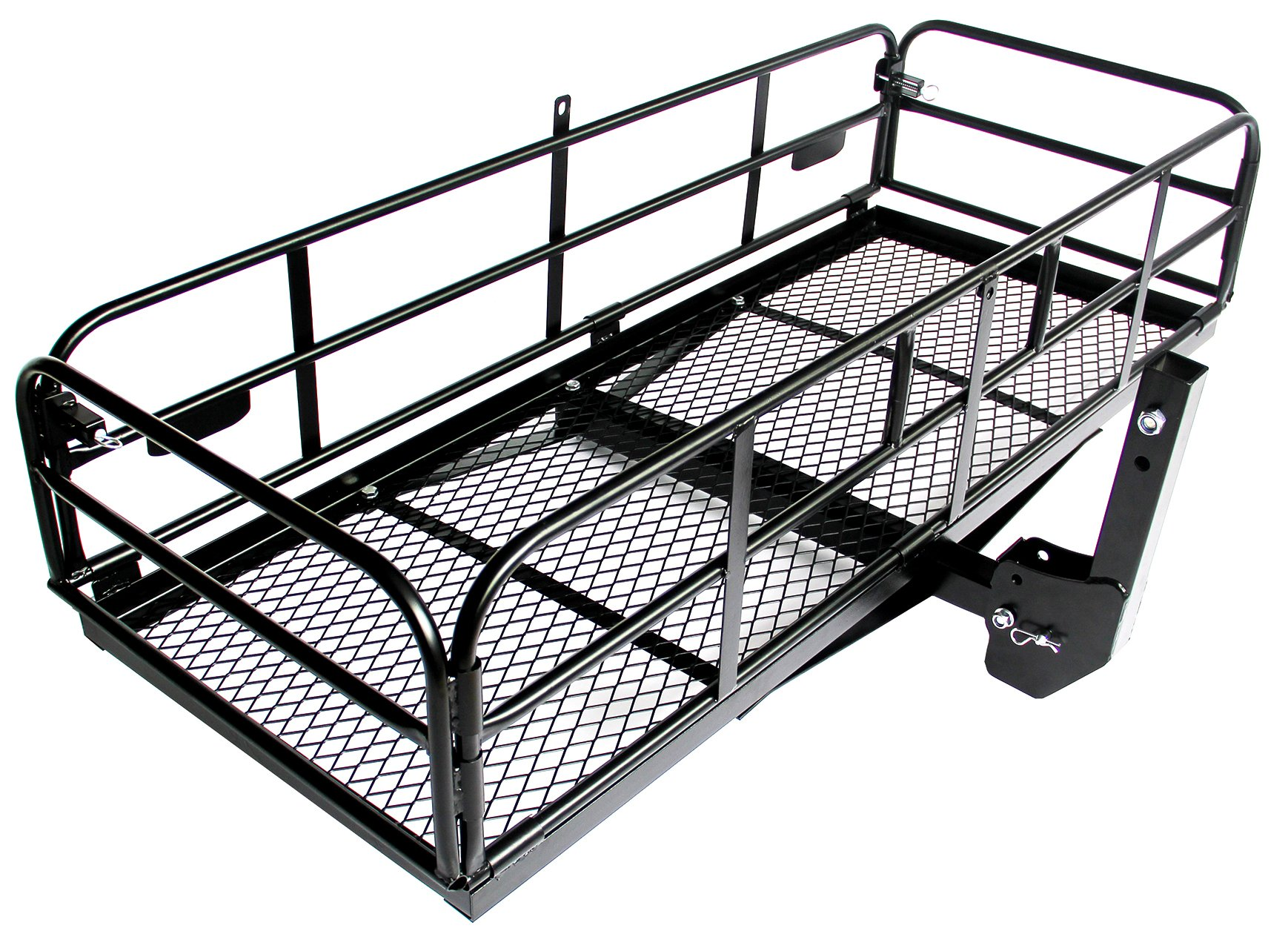 Merax Foldable Hitch Cargo Carrier Mounted Basket Luggage Rack with 2'' Receiver by Merax