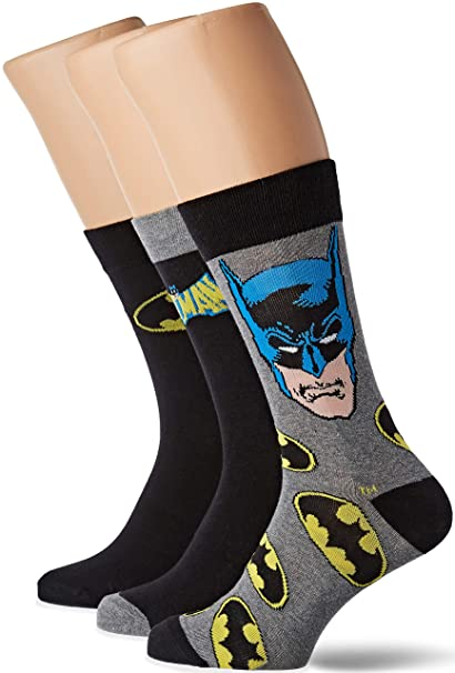 Batman Pack de 3 Pares de calcetines con Lata: Amazon.es: Ropa y accesorios