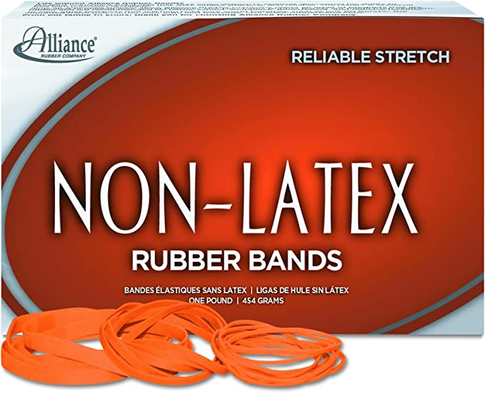 Brown Elastic Band Rubber Elasticated x10
