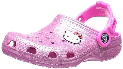 64c61e03b09e36 Crocs 16159 Hello Kitty Glitter Clog (Toddler Little Kid)