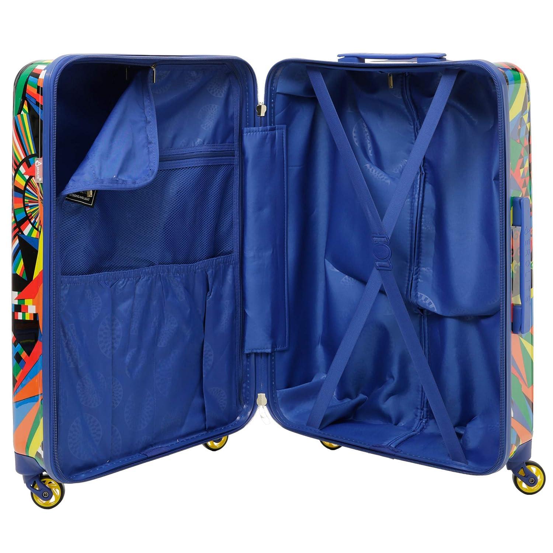 Aerolite Juego de 3 Equipaje Maleta Rígida de Policarbonato con 4 Ruedas, 55cm Equipaje de Mano + 69cm + 79cm, Carnaval: Amazon.es: Equipaje
