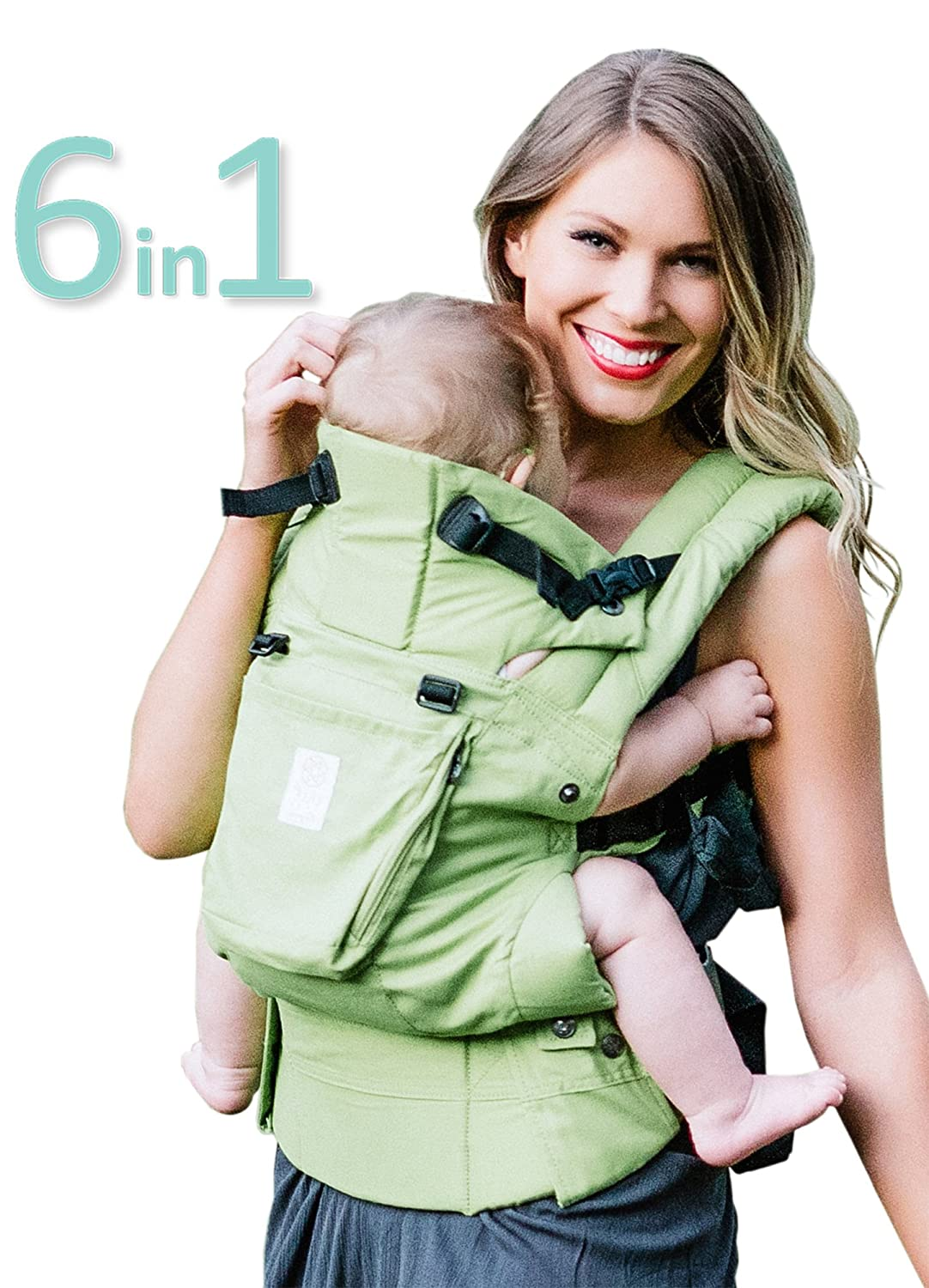 SIX-Position, 360° Ergonomic Baby & Child Carrier by LILLEbaby - The COMPLETE Organic (Powder Blue) SC-2O-209-PB-CA