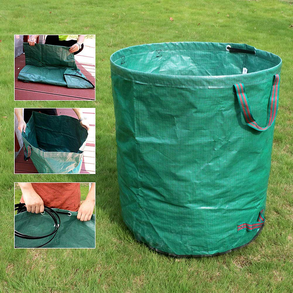 Portable Folding Oxford Towel Storage Bin Garden Camping Camping Recycling For Trash Can Leaves Grass Weed Cuttings Reusable Bweele Collapsible Dustbin