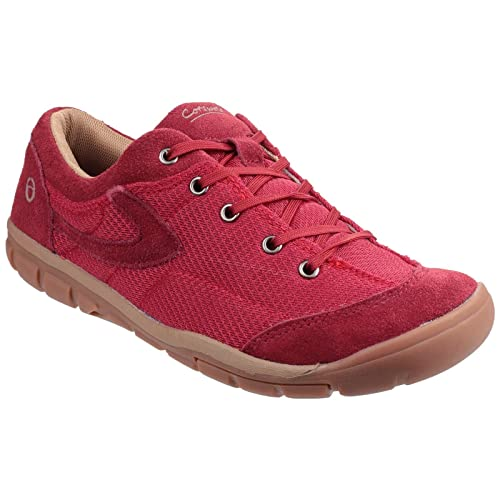 Cotswold Ardley Lace Up Casual Shoe Lace Ladies Shoes BORDO 38 38