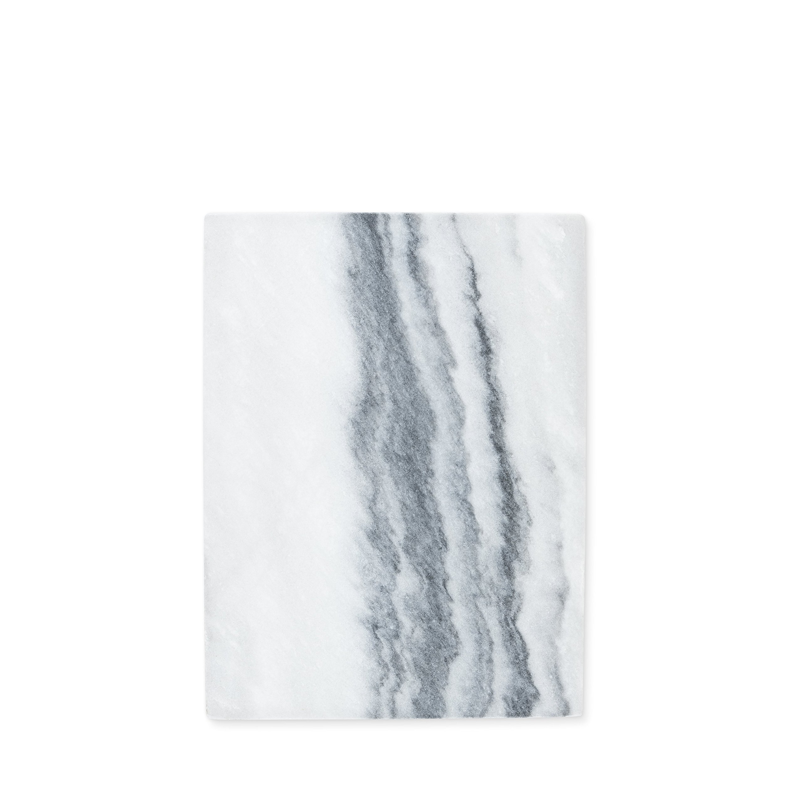 True 7443 Elegance: Rectangular Marble Cheeseboard in Gray Chesseboard