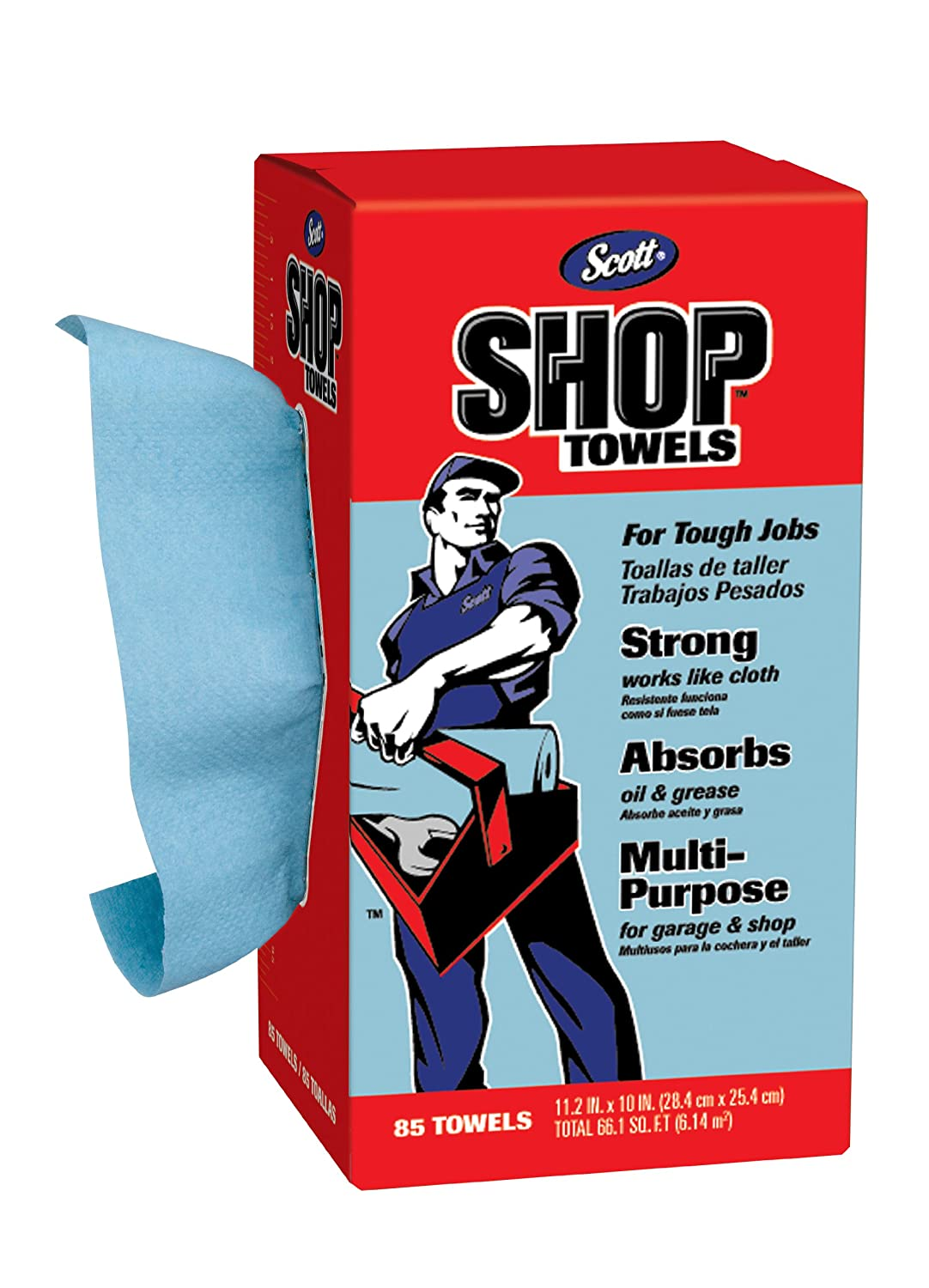 Amazon.com: Scott Shop Towels In A Box, 85-Count, Blue, (Pack of 12): Health & Personal Care