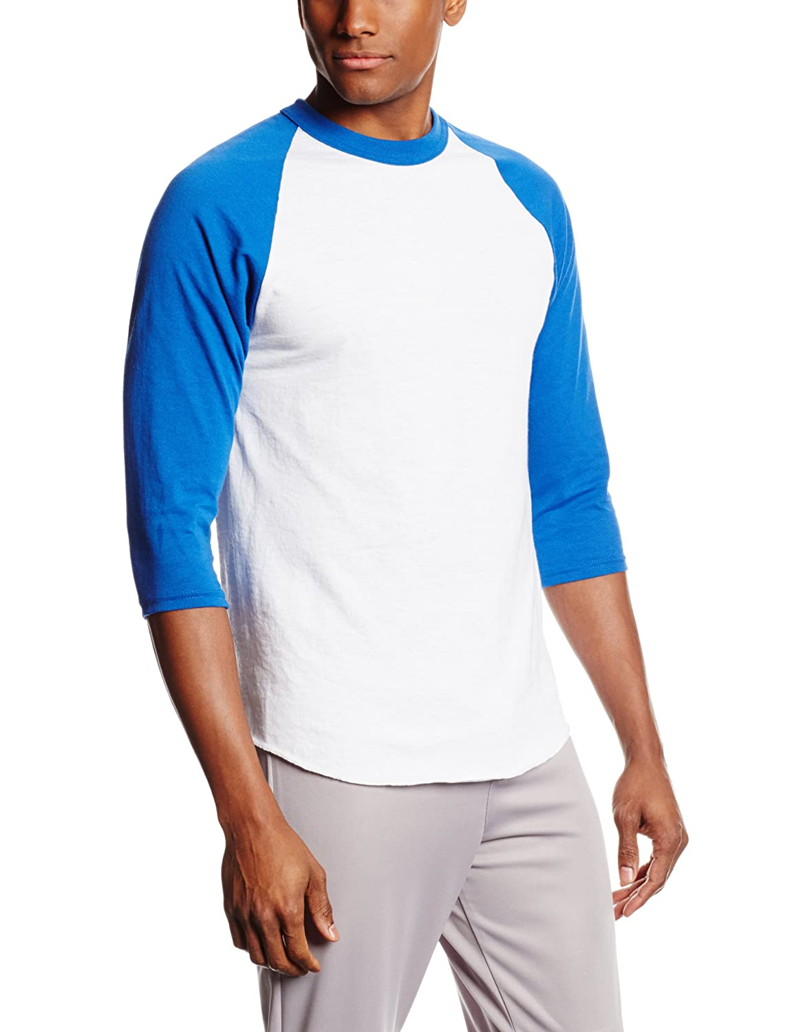 MJ Soffe Men's 3/4 Sleeve Baseball Jersey