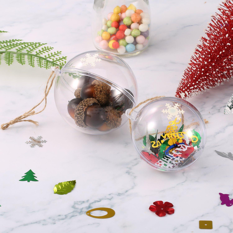 Molde de Bomba de Baño 20 Unidades de Adornos de Navidad Transparentes para Decoración de Fiesta, 2 Tamaños, 60 mm y 70 mm: Amazon.es: Hogar