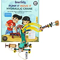 Smartivity Pump It Move It Hydraulic Crane stem, DIY, Educational, Learning, Building and Construction Toy