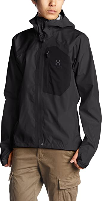Amazon Com Haglofs Gram Gore Tex Active Shell Waterproof Running Jacket Xx Large Black Sports Outdoors