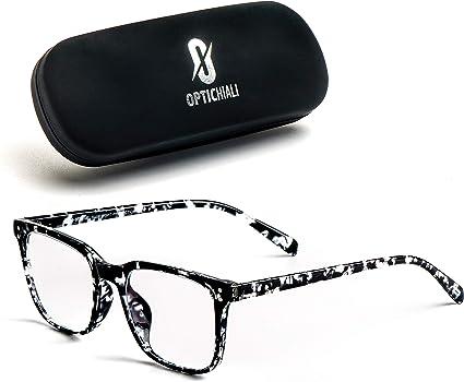 Unisex Blue Light Blocking Glasses Clear Anti Glare Computer Glasses Non Prescription Glasses Nerd Square Plastic Glasses Frames Readers Eyewear