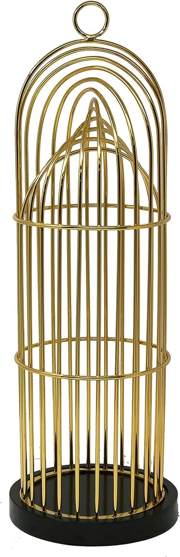 "Sagebrook Home, Gold Metal Decorative Birdcage, 6.75"" x 6.75"" x 13"""