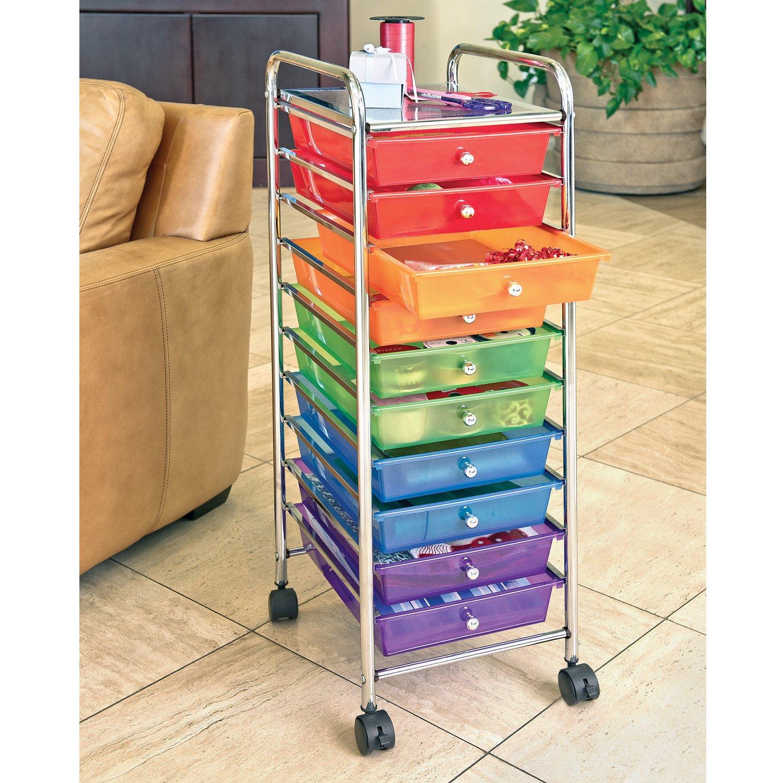 Seville Classics 10-Drawer Organizer Cart, Multi Color by Seville Classics (Image #5)