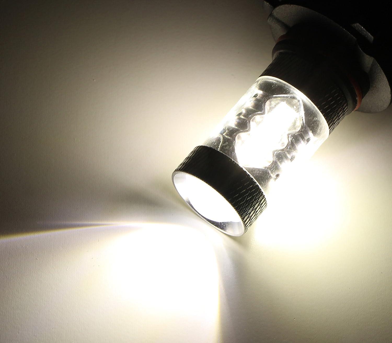 Amazon.com: iJDMTOY (2) Xenon White 80W 9005 CREE LED High Beam ...