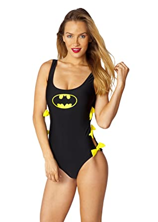 53446131a984 DC Comics Batgirl Bow One Piece Swimsuit at Amazon Women's Clothing store: