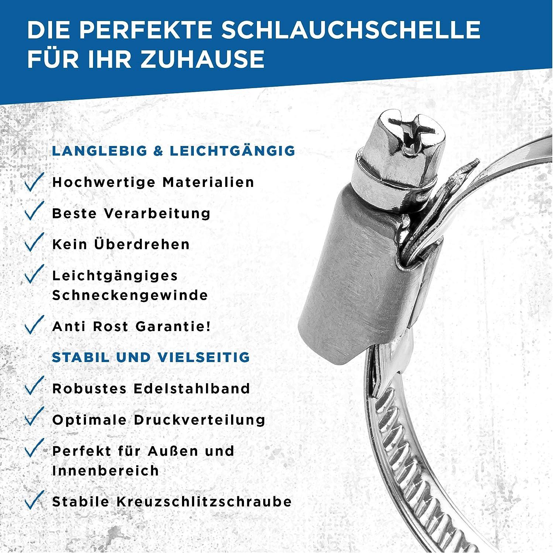 Nierofix Collier de serrage de qualit/é en acier inoxydable pour piscine 32 /à 50 mm Largeur 9 mm W4 Qualit/é I