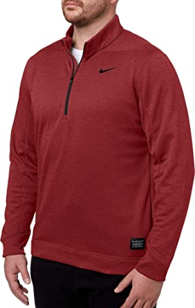 d2454a4d6 Nike Men's Therma Repel Golf ¼ Zip (Heather Burgundy Crush, Small)