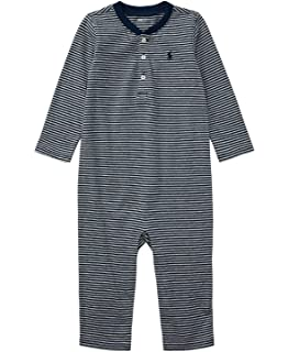 b9845905 Ralph Lauren Baby Boys Striped Cotton Rugby Coverall: Amazon.co.uk ...