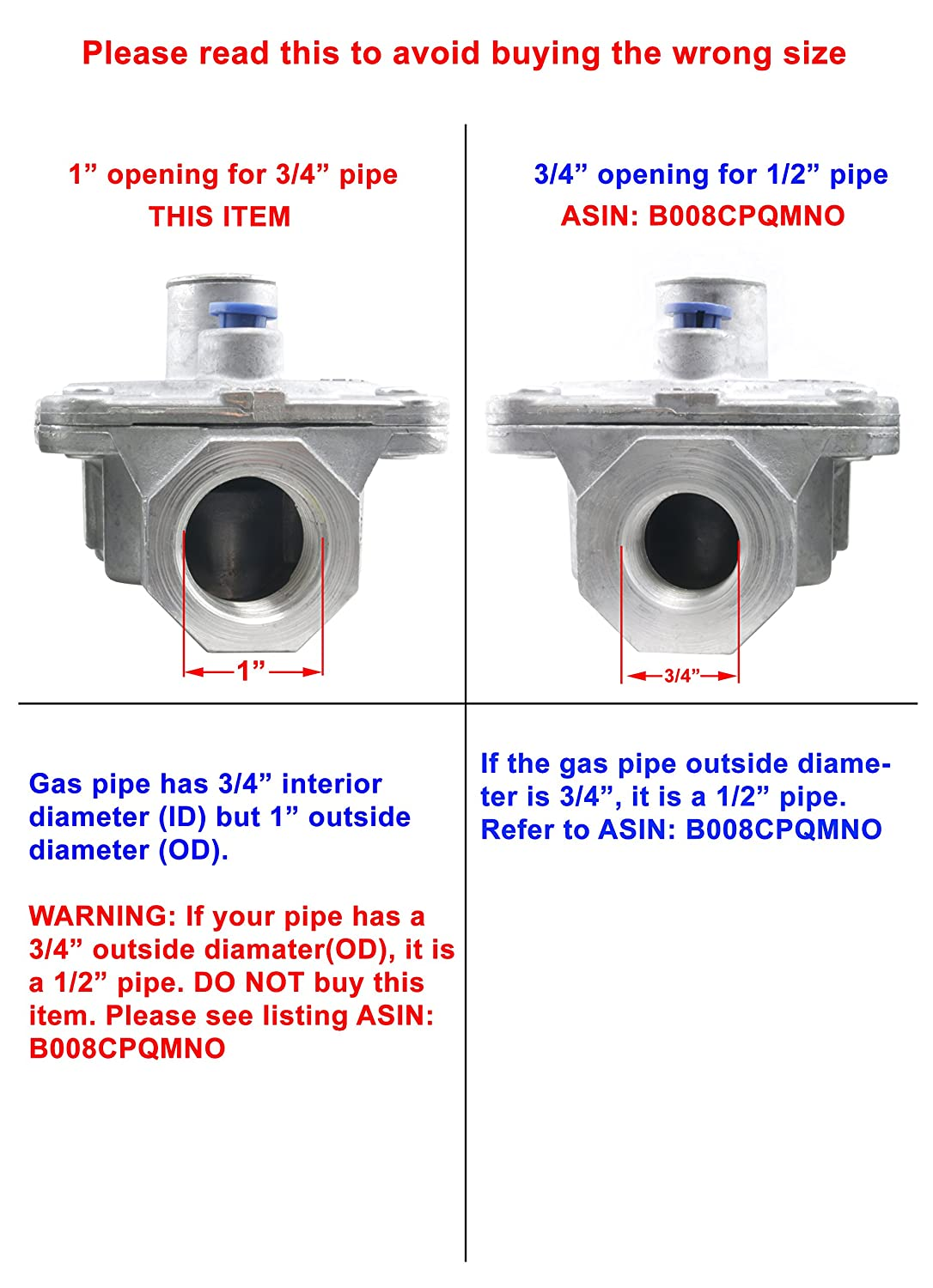 Amazon.com Maxitrol Pressure Regulator for Natural Gas 3/4  In and 3/4  Out FPT Gas Pipe1/2 PSIG 3 -6  WC. 52-1011 Industrial u0026 Scientific  sc 1 st  Amazon.com & Amazon.com: Maxitrol Pressure Regulator for Natural Gas 3/4