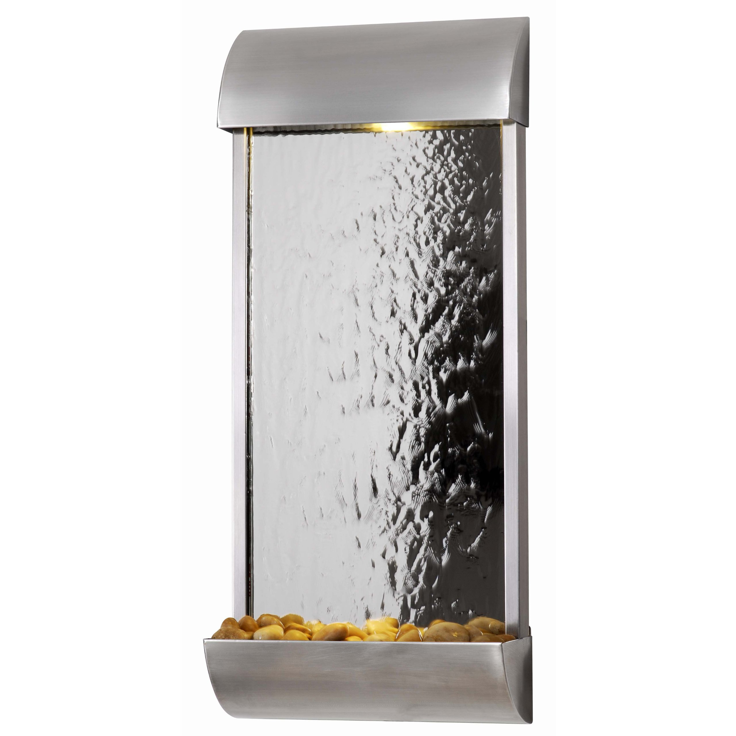 Kenroy Home 50052STST Waterville Wall Fountain, Stainless Steel Finish with Mirrored Face by Kenroy Home