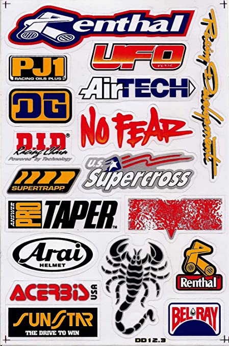 Motocross Dirt Bike Decal Kit Logo Sticker Decor No Fear #Dd12-3