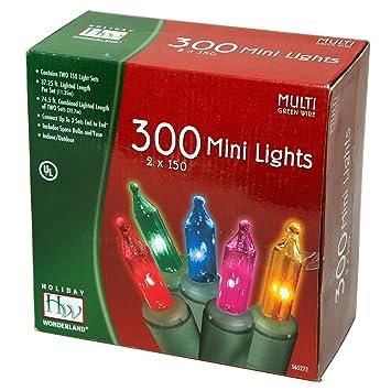 holiday wonderlands 300 count mini multi color christmas light set - Multicolor Christmas Lights