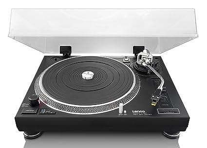 Lenco L3807 - Tocadiscos para Equipo de Audio, Negro